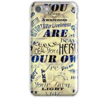 ©NS-DA 1524 You Are Your Own - CARTEL I iPhone Case/Skin