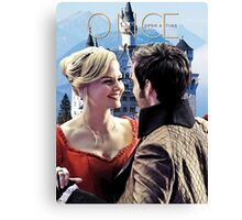 Captain Swan Fairy Tale Watercolor Design 3 Canvas Print
