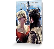 Captain Swan Fairy Tale Watercolor Design 3 Greeting Card