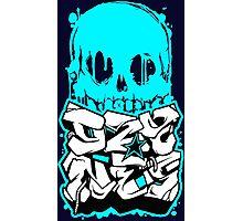 Skull Paint (Blue) Photographic Print
