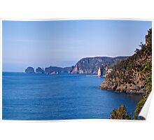 TASMAN PENINSULA ~ BLUE  ~ The Coast by tasmanianartist Poster
