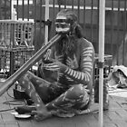 Aborigine Playing Didgeridoo  by Stan Owen