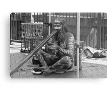 Aborigine Playing Didgeridoo  Metal Print