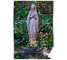 Praying Statue Poster