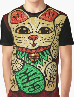 'Shiny Lucky Cat' Graphic T-Shirt
