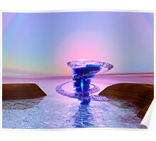 Fantasy water whirlwind with ice rings Poster