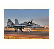 F/A-18 Hornet, A21-4, 77 Squadron, RAAF Williamtown Art Print