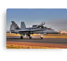 F/A-18 Hornet, A21-4, 77 Squadron, RAAF Williamtown Canvas Print