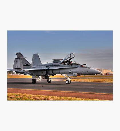 F/A-18 Hornet, A21-4, 77 Squadron, RAAF Williamtown Photographic Print