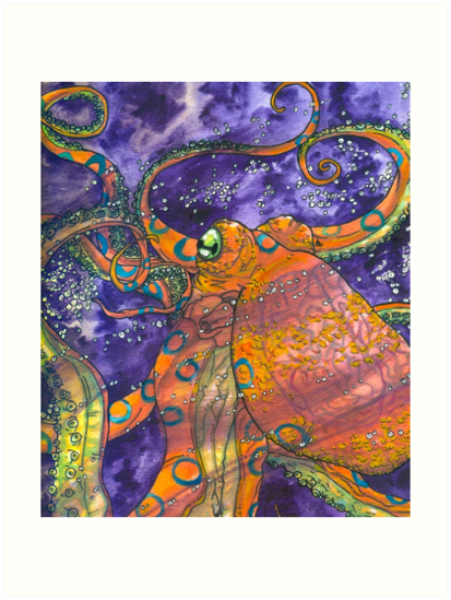 """blue-ringed octopus "" Art Prints by HiddenStash 