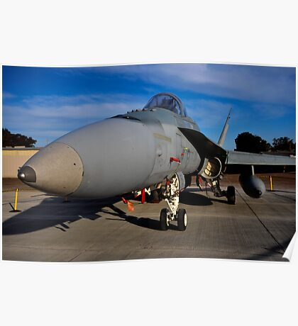 F/A-18 Hornet, A21-53, 3 Squadron, RAAF Williamtown Poster