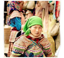 Flower Hmong young lady Poster