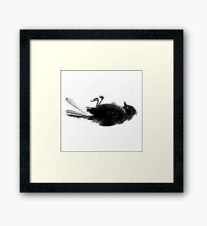 Black Bird Framed Print