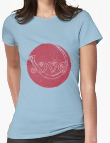 love tennis in vintage pink Womens Fitted T-Shirt