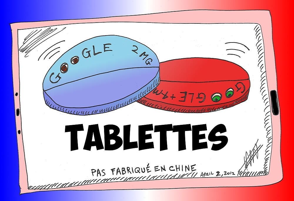 Nouvelles Options Binaires Caricature Tablettes Google by Binary-Options