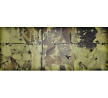 Barbwire fence Photographic Print