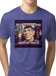 Party Spock Tri-blend T-Shirt