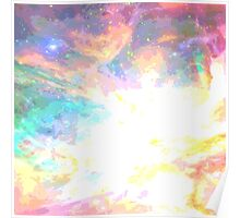 pastel gummy space Poster