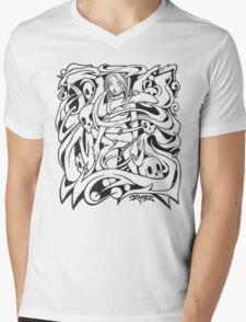 Tangled Girl Mens V-Neck T-Shirt