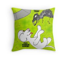 Binary Options News Cartoon Post-Stimulus Economy Throw Pillow