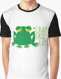 Crazy Frog Lady Graphic T-Shirt