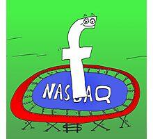 Binary News Options Binaires Facebook Nasdaq Photographic Print