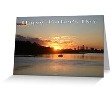 """Sunset at Forster NSW Australia """"Happy Father's Day"""" Card Greeting Card"""