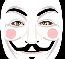 GUY FAWKES /  V for Vendetta / ANONYMOUS Mask by Shevaun  Shh!