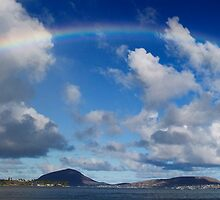 Rainbow Over Maunalua Bay by Alex Preiss