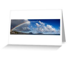 Rainbow Over Maunalua Bay Greeting Card