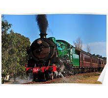 Steam Locomotive 3642 builds up steam at Thirlmere Poster