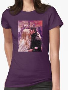 Captain Swan Camelot Watercolor Design 1 Womens Fitted T-Shirt