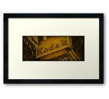 Old Fashioned Kodak Sign Framed Print