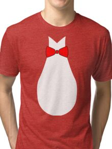 Penguin Style Fake Bow Tie T-shirt Tri-blend T-Shirt