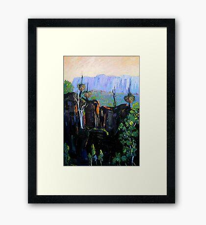 Grass Trees Maroon Dam Framed Print