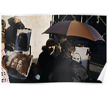 Portrait artists, Montmartre, Paris Poster