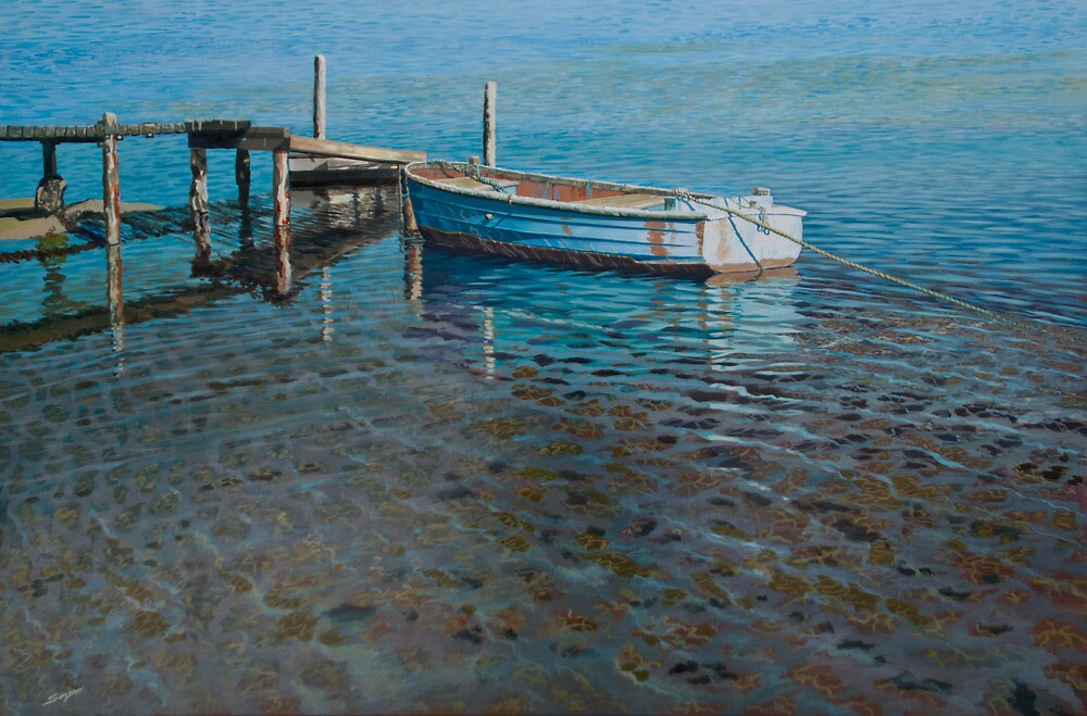 At the low tide by Freda Surgenor