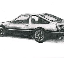 Toyota Corolla AE86 by Lisa Lawrence