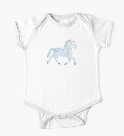 Baby Boy Cute Horse One Piece - Short Sleeve