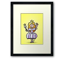 Pretty Princess from a fairy tale Framed Print