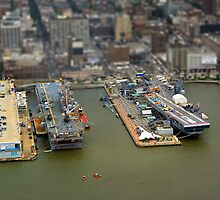 tilt n shift uss intrepid by gruntpig