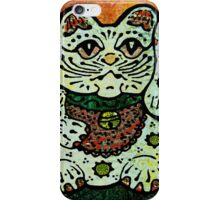 'Shiny Lucky Cat #3' iPhone Case/Skin