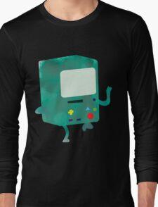 Watercolour Adventure Time BMO Long Sleeve T-Shirt