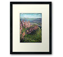 On the Edge, Blue Mountains, Australia Framed Print