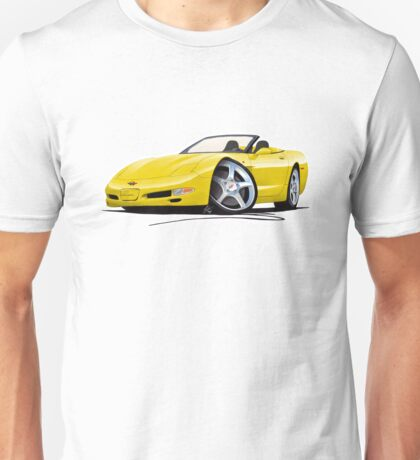 Chevrolet Corvette C5 Convertible Yellow Unisex T-Shirt
