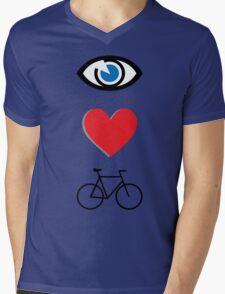I heart cycling Mens V-Neck T-Shirt