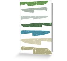 Chef's knives Greeting Card