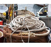 THE ROPES AND GROUND BAIT.....  Camogli - Italy -1700 visualizzaz. a gennaio 2013 --- RB EXPLORE VETRINA 21 APRILE 2012 - Photographic Print