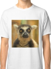 Maki Catta / Ring Tailed Lemur photograph printed on throw pillows, posters or bag.  Classic T-Shirt