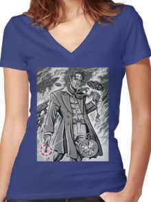 Time War Eighth Doctor Women's Fitted V-Neck T-Shirt
